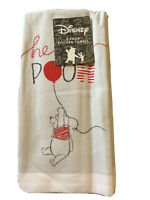 Disney WINNIE THE POOH Hello POOH 2-Pack Kitchen Hand Towels 100% Cotton