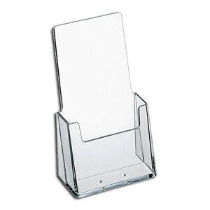 "2 Pack Brochure Holder 4x9"" Tri-Fold Desktop AZM Display Top Quality Made in USA"