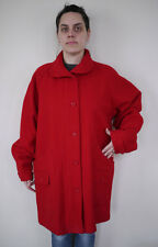 Vintage WOOLRICH Woman Wool Blend Bright Red Peacoat Over Coat Jacket USA L