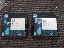 Genuino Set 2 hp #88 Cabezales de Impresora K550 K8600 L7480 C9381A C9382A