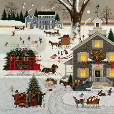 Charles Wysocki CAPE COD CHRISTMAS giclee canvas #2