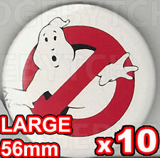 GHOSTBUSTERS SET OF TEN LARGE 56mm size Badge Button Pins - FUN!