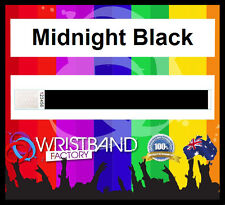 100x Tyvek Black Party Function Event Wristbands