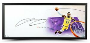"LEBRON JAMES Autographed Lakers ""The Show"" Framed ""46 x 20"" Display UDA"