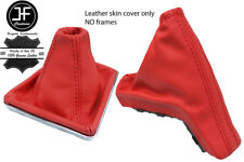 RED TOP GRAIN REAL LEATHER GAITER SET FOR VAUXHALL OPEL ASTRA MK5 H 2004-2009
