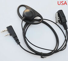 D Earpiece Headset Mic For Kenwood Radio TK-2200L TK-2202L TK-3200L TH-D7 TH-D7A