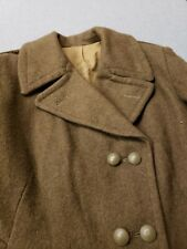 French Enlisted Overcoat Long Wool Trench Coat Post War 40s 50s Military