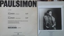 "PAUL SIMON Rare Radio Promo Record ""Allergies"" Photo and Info for radio Included"