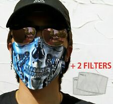 Terminator Face Mask With Filters & Pocket Washable Reusable Adult Kids Mask
