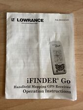 Instructions For Lowerance iFinder Go Gos Receiver Operating Manual