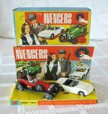 1966- CORGI TOYS GIFT SET 40-THE AVENGERS-BENTLEY-LOTUS ELAN S2- BOX & DISPLAY
