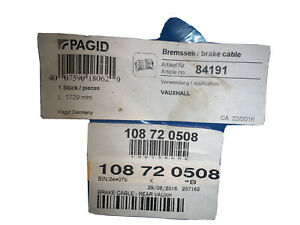 pagid rear  Hand brake cable, vauxhall