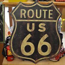 Blechschild Route 66 groß ca. 55 x 45 cm Garage Biker used look shabby retro NEU