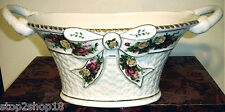 Royal Albert Old Country Roses Centerpiece Bowl Basketweave Handles & Bow NEW