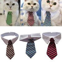 Gentleman Puppy Striped Tie Necktie Collar Clothes for Dog Cat Pet SuppliKRFS