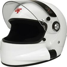G Force Racing 3127 Large White GF7 Full Face Side Air Helmet Snell SA-2015