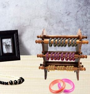 Handmade Wooden Bangle Holder, Jawellery Stand For Women Carving