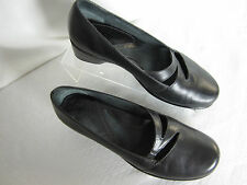 Clark's Artisan Leather Walking Shoe 6.5 B Black 1.5 in Heel Sturdy EPOC
