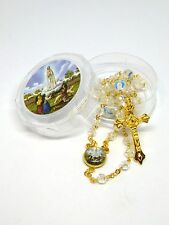 Our Lady of Fatima Rosary - Centenary Year - Crystal Rosary - Aurora Borealis
