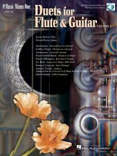 Flute & Guitar Duets Vol. 1 Sheet Music Minus One Book and Audio 000400051