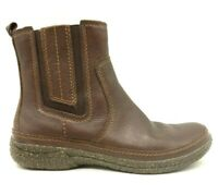 Clarks Artisan Brown Leather Side Zip Casual Ankle Boots Women's 6 M
