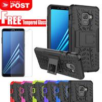 For Samsung Galaxy A5 A7 2017 A8 2018 Heavy Duty Tough Kickstand Case Cover