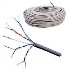 100m CAT 6 Solid Copper PVC Grey Cable UTP