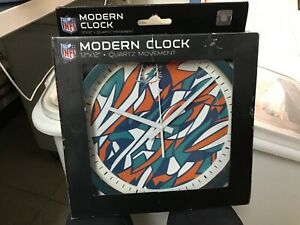 miami dolphins wall clock new in box