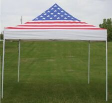 10'x10' Enclosed Pop Up Canopy Party Folding Tent Gazebo - American Flag - E Mod