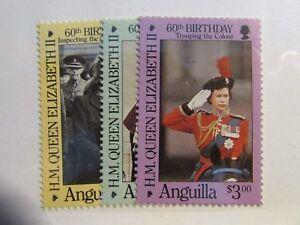 ANGUILLA Scott #674 675 676 ** MNH , H.M. Queen Elizabeth  , fine   Superfleas
