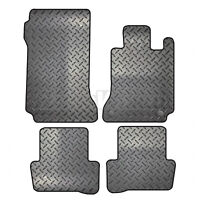 Mercedes C-Class 2007 to 2014 Tailored 4 Piece Rubber Car Mat Set 2 Clips