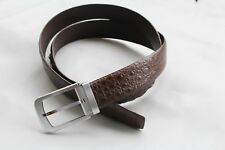 Genuine Alligator, Crocodile Belt Skin Leather Dark Brown Men's Accessories