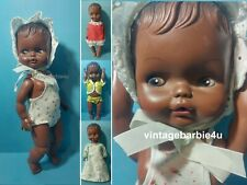 """Vintage Eugene Baby Doll 12"""" African American Black 1974 & Clothes Lot"""