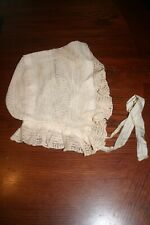 Ladies Lace Hair Cap Antique Early 1800's
