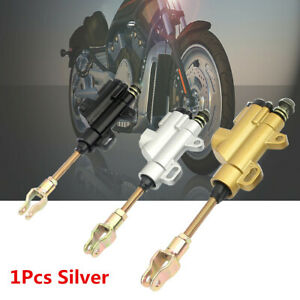 1Pcs Motorcycle Silver Master Cylinder Foot Rear Brake Top Pump Motor Accessorie