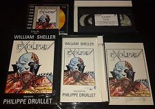 INTROUVABLE WILLIAM SHELLER EXCALIBUR COFFRET VHS LIVRET CDV DESSIN SIGNE ETC...