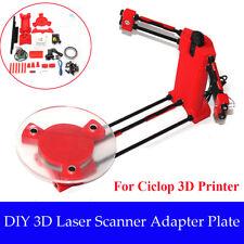 3D DIY Laser Desktop Scanner Plate Kit w/Adapter Object For Ciclop Printer UK