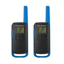 Motorola T62 - Colour Blue Walkie Talkie Radio Twin Pack EX-DEMO 036