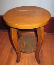 ANTIQUE VINTAGE WOOD MISSION ARTS & CRAFTS  OAK PLANT STAND ACCENT TABLE