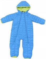 Snozu Size 12-18 Months Fleece Lined  Blue Quilted Double Zip Snowsuit VGC!!