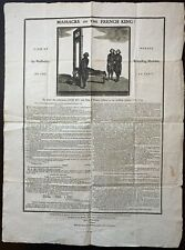 GUILLOTINE. 1793 Broadside: MASSACRE OF THE FRENCH KING!