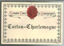Ancienne Etiquette - Grand Vin de bourgogne - Corton-Charlemagne - Réf.n°364