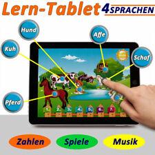 Spielcomputer Tablet Lernspiel Kinder Lerncomputer Pad Musik 4 Sprachen -Weiß-