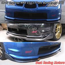 CS Style Front Bumper Lip (Urethane) Fits 06-07 Subaru Impreza