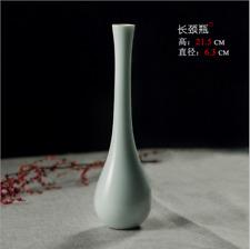 Hand-made Ceramic Vase White Porcelain Crafts Chinese Decorative Home Decoration
