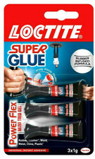 3 x Loctite Mini Trio Powerflex Gel Flexible Super Glue Adhesive Bonding 1g New