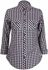Checked 100% Cotton Machine Washable Tops for Women