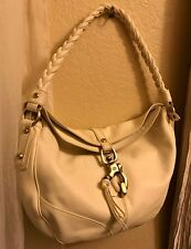 Francesco Biasia Ivory Leather Shoulder Handbag Purse ECU!!! MUST SEE!!