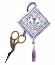 Tartan Thistles Scissor Keep Cross Stitch Kit (Textile Heritage)