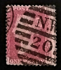 GB QV Penny Red  1858-79 1d  Letters RK   PR247  Free Registered Mail